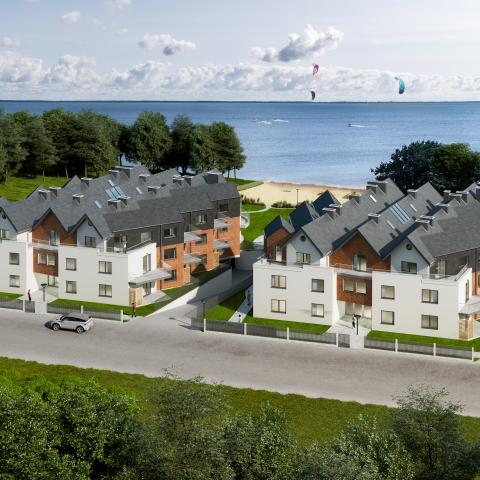 katamarany zatoka apartamenty z widokiem na morze